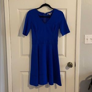 Banana Republic Piped Ponte Fit and Flare Dress